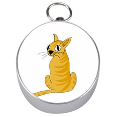 Yellow cat Silver Compasses