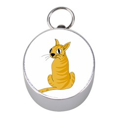 Yellow cat Mini Silver Compasses