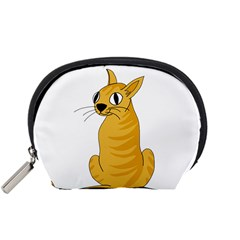 Yellow cat Accessory Pouches (Small)