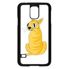 Yellow cat Samsung Galaxy S5 Case (Black)