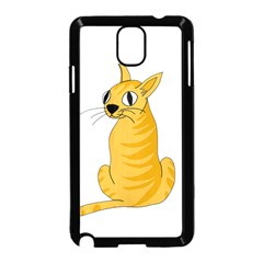 Yellow cat Samsung Galaxy Note 3 Neo Hardshell Case (Black)