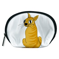 Yellow cat Accessory Pouches (Medium)
