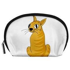 Yellow cat Accessory Pouches (Large)