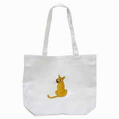 Yellow cat Tote Bag (White)