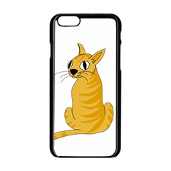 Yellow cat Apple iPhone 6/6S Black Enamel Case