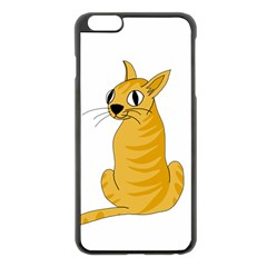 Yellow cat Apple iPhone 6 Plus/6S Plus Black Enamel Case