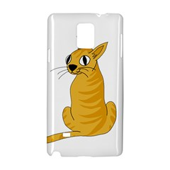 Yellow cat Samsung Galaxy Note 4 Hardshell Case