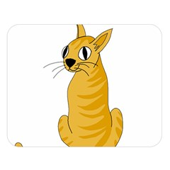 Yellow cat Double Sided Flano Blanket (Large)
