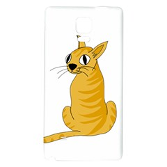 Yellow cat Galaxy Note 4 Back Case