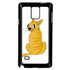 Yellow cat Samsung Galaxy Note 4 Case (Black)