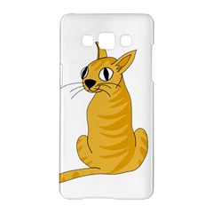 Yellow cat Samsung Galaxy A5 Hardshell Case