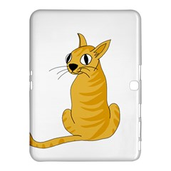 Yellow cat Samsung Galaxy Tab 4 (10.1 ) Hardshell Case
