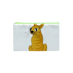 Yellow cat Cosmetic Bag (XS)