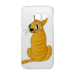 Yellow cat Galaxy S6 Edge