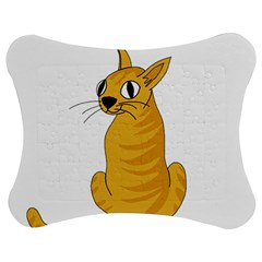 Yellow cat Jigsaw Puzzle Photo Stand (Bow)