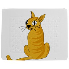 Yellow cat Jigsaw Puzzle Photo Stand (Rectangular)