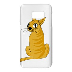 Yellow cat Samsung Galaxy S7 Hardshell Case