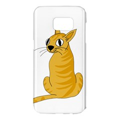 Yellow cat Samsung Galaxy S7 Edge Hardshell Case