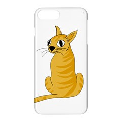 Yellow cat Apple iPhone 7 Plus Hardshell Case