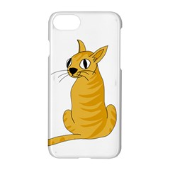 Yellow cat Apple iPhone 7 Hardshell Case