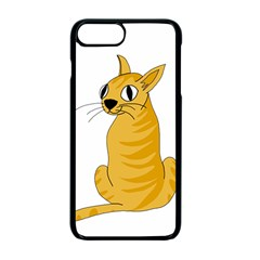 Yellow cat Apple iPhone 7 Plus Seamless Case (Black)