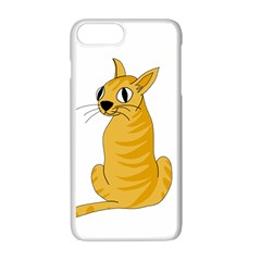 Yellow cat Apple iPhone 7 Plus White Seamless Case