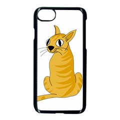 Yellow cat Apple iPhone 7 Seamless Case (Black)