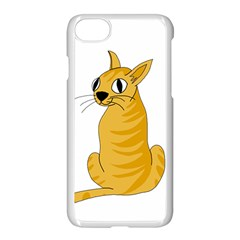 Yellow cat Apple iPhone 7 Seamless Case (White)