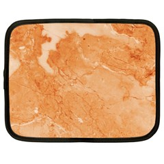 Rose Gold Marble Stone Print Netbook Case (large) by Dushan