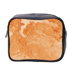Rose Gold Marble Stone Print Mini Toiletries Bag 2 Side by Dushan
