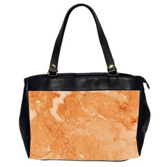 Rose Gold Marble Stone Print Office Handbags (2 Sides)  by Dushan