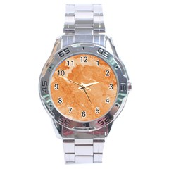 Rose Gold Marble Stone Print Stainless Steel Analogue Watch by Dushan