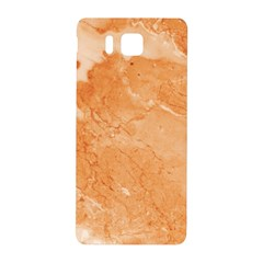 Rose Gold Marble Stone Print Samsung Galaxy Alpha Hardshell Back Case by Dushan