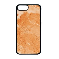 Rose Gold Marble Stone Print Apple Iphone 7 Plus Seamless Case (black)