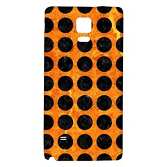 Circles1 Black Marble & Orange Marble (r) Samsung Note 4 Hardshell Back Case by trendistuff