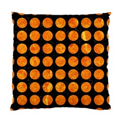 Circles1 Black Marble & Orange Marble Standard Cushion Case (two Sides) by trendistuff