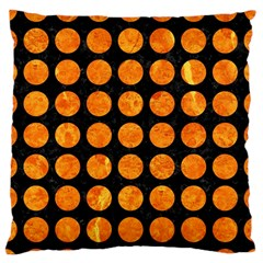 Circles1 Black Marble & Orange Marble Standard Flano Cushion Case (one Side) by trendistuff