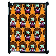 Zombie Woman Fill Orange Apple Ipad 2 Case (black)