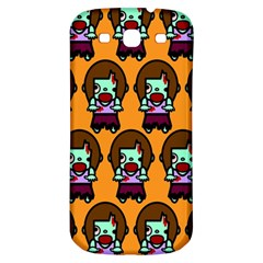 Zombie Woman Fill Orange Samsung Galaxy S3 S Iii Classic Hardshell Back Case