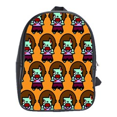 Zombie Woman Fill Orange School Bags (xl)