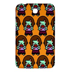 Zombie Woman Fill Orange Samsung Galaxy Tab 3 (7 ) P3200 Hardshell Case  by AnjaniArt