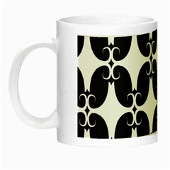 Black Flower Accents Night Luminous Mugs