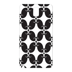 Black Flower Accents Samsung Galaxy Note 3 N9005 Hardshell Back Case by AnjaniArt