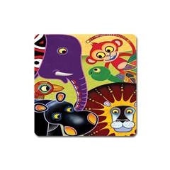 Animals Square Magnet by AnjaniArt