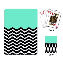 Blue Chevron Playing Card by AnjaniArt