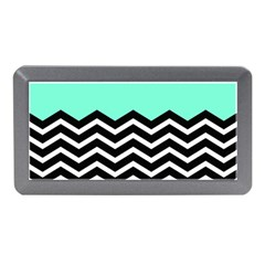 Blue Chevron Memory Card Reader (mini) by AnjaniArt
