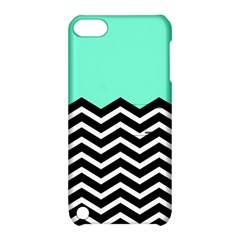 Blue Chevron Apple Ipod Touch 5 Hardshell Case With Stand by AnjaniArt