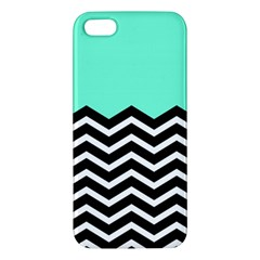 Blue Chevron Apple Iphone 5 Premium Hardshell Case