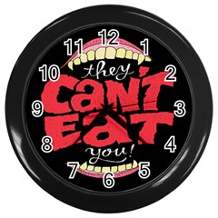 Cant Eat Wall Clocks (black) by AnjaniArt