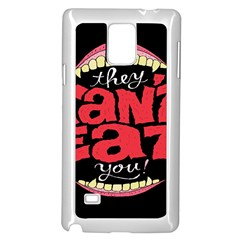 Cant Eat Samsung Galaxy Note 4 Case (white)